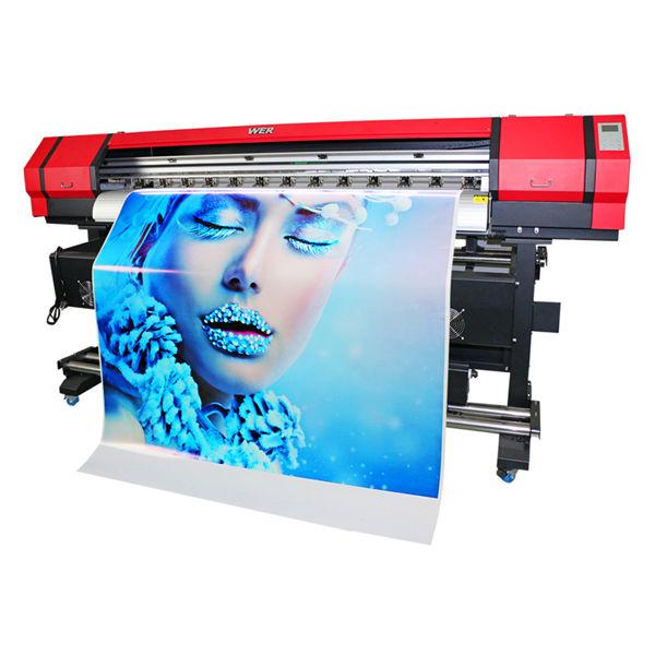 1,6 m mașină de piele flex banner platformă țesături mari format eco solvent jet de cerneală