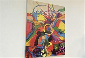 Eșantion de canvas tipărit prin imprimantă A1 size WER-EP6090UV
