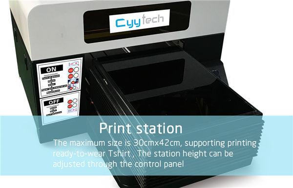 Hot vânzare T-shirt mașină de imprimare A3 imprimanta dtg tricou de vânzare