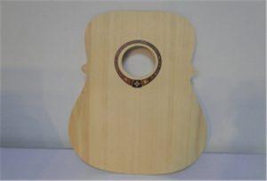 Eșantion de chitară din lemn de la imprimanta A2 size WER-DD4290UV