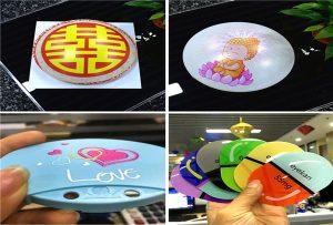 tipărirea mostrelor de plastic din imprimanta de dimensiune A1 6090UV